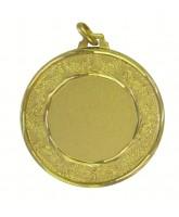 Earth Logo Insert Gold Brass Medal