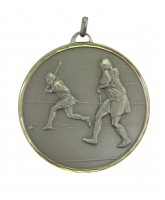 Embossed Economy Female Hockey Silver Medal