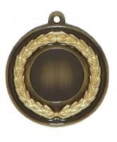Gilt Laurel Logo Insert Bronze Medal