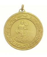 Mens Athletics Gold Running Laurel Medal