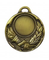 Olympic Golden Torch Logo Insert Gold Medal