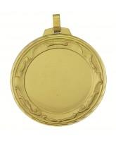 Scroll Logo Insert Gold Brass Medal