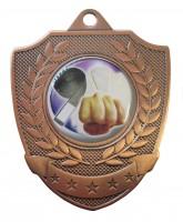 Shield Laurel Logo Insert Bronze Medal