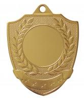 Shield Laurel Logo Insert Gold Medal
