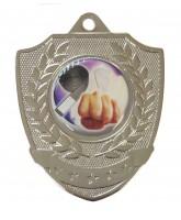 Shield Laurel Logo Insert Silver Medal