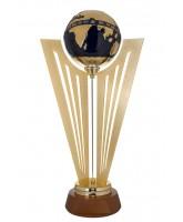 Miura Gold Plated & Ceramic Globe Award