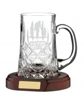 1 Pint ¾ Cut Crystal Tankard (Base not included)