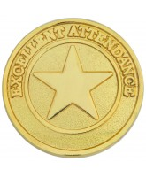 School Gold Attendance Badge