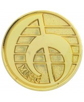 School Gold Music Badge