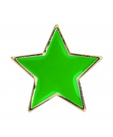 School Green Colour Star Badge