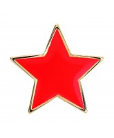 School Red Colour Star Badge