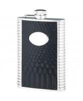 Wolfburn Black Leather Trim Hip Flask