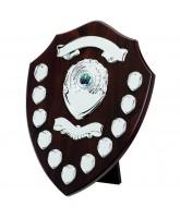 Classic Dark Cherry Wooden Veneer 11 Year Annual Shield