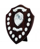 Classic Dark Cherry Wooden Veneer 13 Year Annual Shield