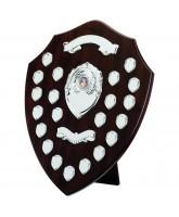 Classic Dark Cherry Wooden Veneer 21 Year Annual Shield