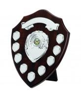 Classic Dark Cherry Wooden Veneer 9 Year Annual Shield