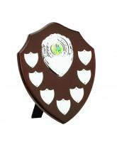 Dark Cherry Economy Wooden Veneer 7 Year Annual Shield