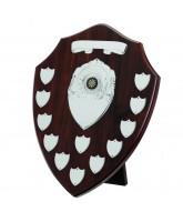 Dark Cherry Wooden Veneer 12 Year Annual Shield