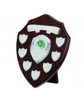 Dark Cherry Wooden Veneer 7 Year Annual Shield