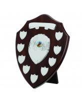 Dark Cherry Wooden Veneer 9 Year Annual Shield