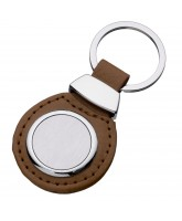 Leather Keyholder with logo Insert