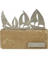Bruges Pewter and Sandstone Sailing Trophy