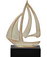 Henin Cast Metal & Pewter Sailing Trophy