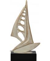 Henin Cast Metal & Pewter Windsurfing Trophy