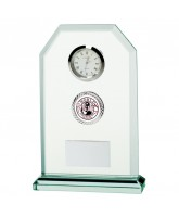 Vitoria Jade Glass Clock Logo Insert Award