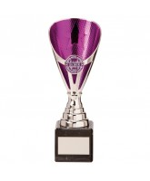 Rising Stars Silver and Purple Contemporary Cup