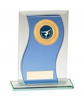 Azzuri Wave Mirrored Glass Logo Insert Trophy
