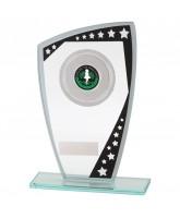 Cosmic Mirrored Jade Glass Logo Insert Trophy