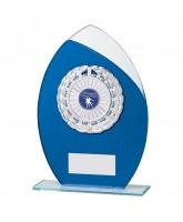 Draco Blue Glitter Glass Logo Insert Trophy