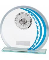 Galactic Jade Glass Logo Insert Trophy