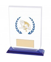 Gladiator Hand Painted Glass Pool & Snooker Trophy