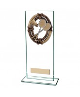 Maverick Legacy Jade Glass Badminton Trophy