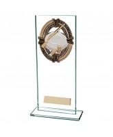 Maverick Legacy Jade Glass Clay Pigeon Shooting Trophy