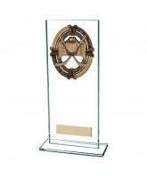 Maverick Legacy Jade Glass Ice Hockey Trophy