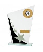 Mega Star Mirrored Jade Glass Logo Insert Trophy