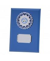 Mirage Blue Mirrored Glass Logo Insert Trophy