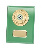 Mirage Green Mirrored Glass Logo Insert Trophy