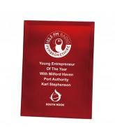 Mirage Red Mirror Glass Award