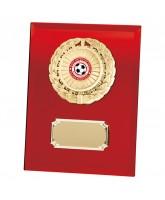 Mirage Red Mirrored Glass Logo Insert Trophy