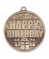 Cascade Happy Birthday Gold Medal 50mm