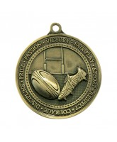 Olympia Rugby Medal Gold 60mm