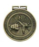 Olympia Taekwondo Medal Gold 70mm