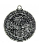 Olympia Triathlon Medal Silver 60mm