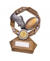 Enigma Rugby Boot and Ball Trophy
