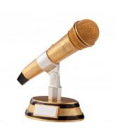 Karaoke King Microphone Trophy
