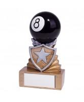 Mini Shield 8 Ball Pool Trophy
